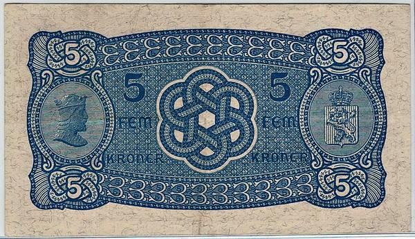 Bilde av 5 kroner 1940 R