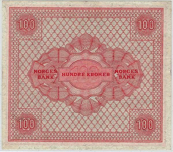 Bilde av 100 kroner 1949 C