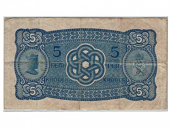 Bilde av 5 kroner 1933 N Sjelden!