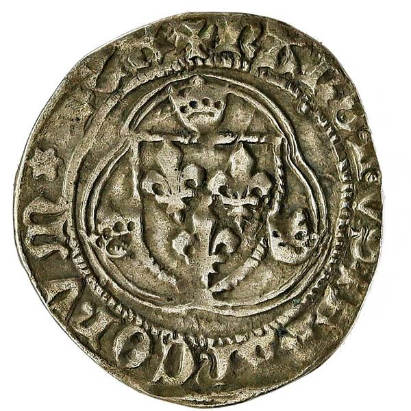 Bilde av Frankrike Charles VII Blanc á la Couronne 1456