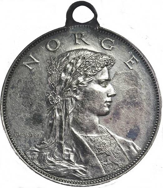 Bilde av Ivar Throndsen 17. mai 1904 Sølv