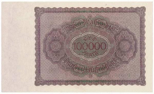 Bilde av 100 000 mark 1923