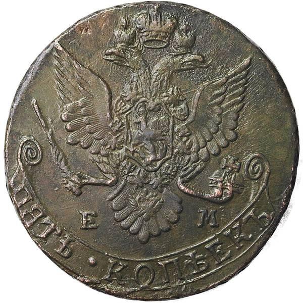 Bilde av Russland 5 kopek 1782 EM