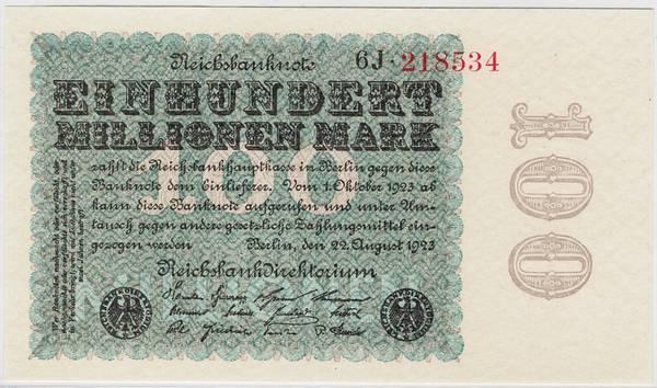 Bilde av 100 000 000 mark 1923