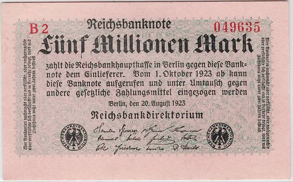 Bilde av 5 000 000 mark 1923