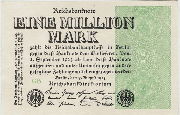 Bilde av 1 000 000 mark 1923