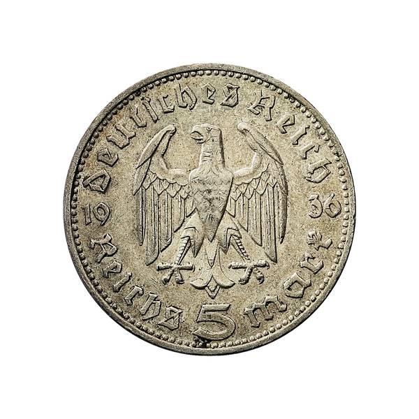 Bilde av Tyskland 5 reichsmark 1936 Hindenburg