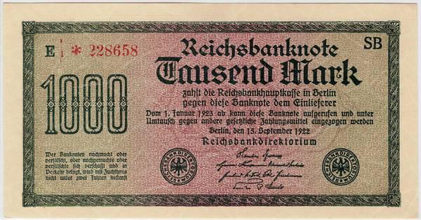 Bilde av 1000 mark 1922