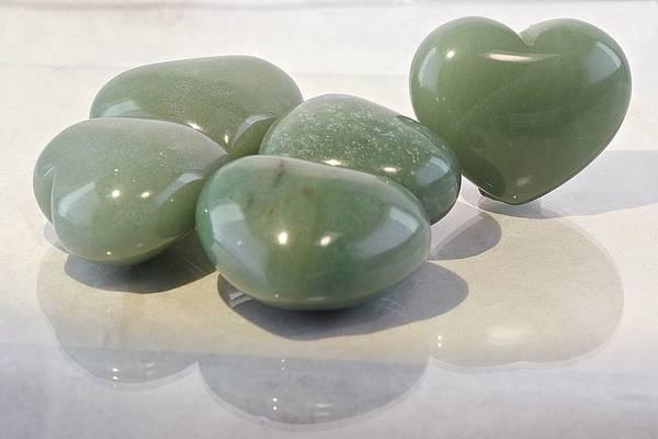 Bilde av Hjerte av grønn aventurin