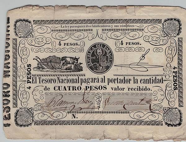 Bilde av Paraguay 4 pesos 1862