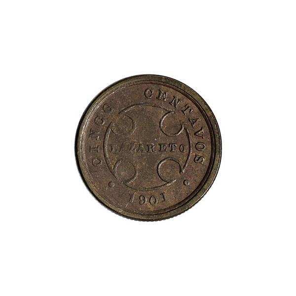 Bilde av Colombia 5 cent 1901 Lepralasarett