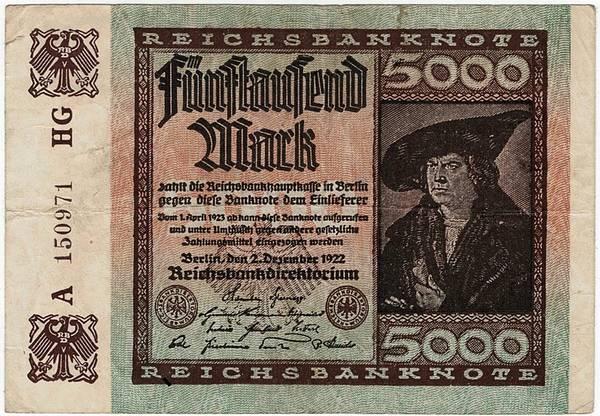 Bilde av 5000 mark 1922 Inflasjonsseddel