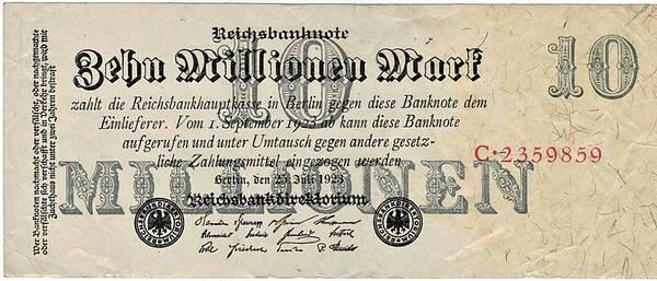 Bilde av 10 000 000 mark 1923 Inflasjonsseddel