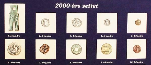Bilde av 2000 års mynthistorie - 20 mynter