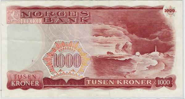 Bilde av 1000 kroner 1987 5. utgave