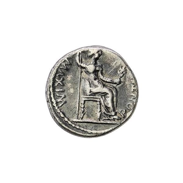Bilde av Tiberius Denar 14-37 e.Kr. Skattens penning