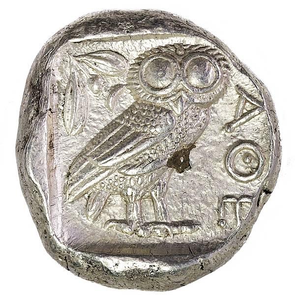 Bilde av Athen Tetradrakme 454-404 f.Kr. Ugle!