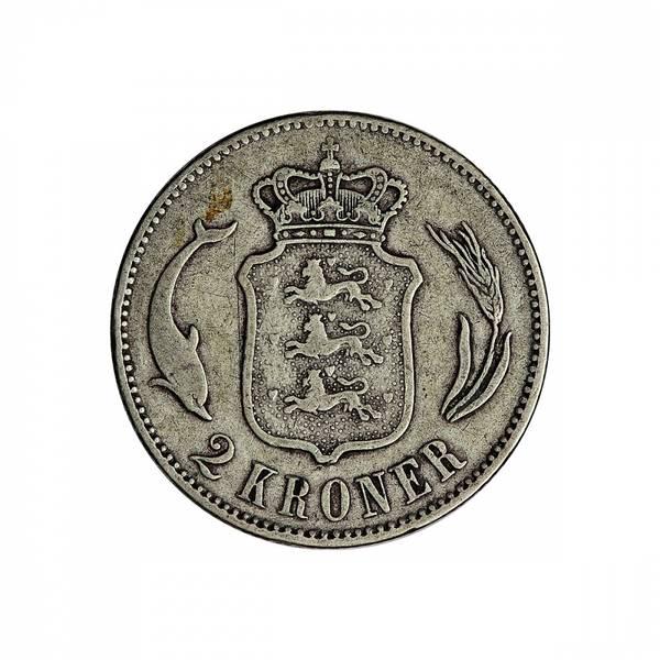 Bilde av Danmark 2 kroner 1876