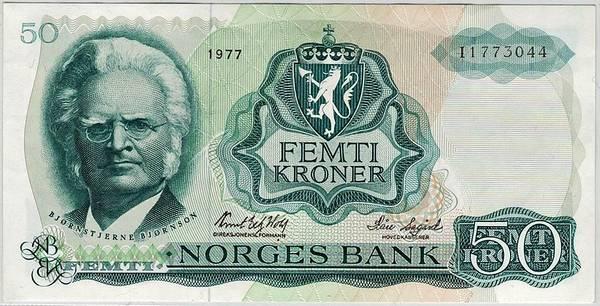Bilde av 50 kroner 1977 I