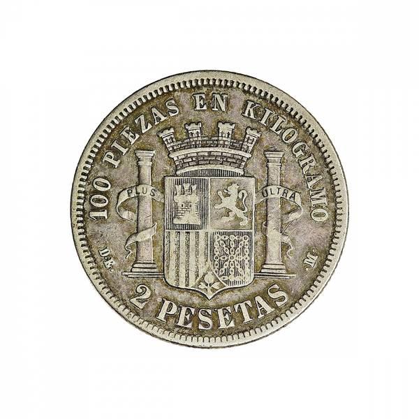 Bilde av Spania 2 pesetas 1870 (73)