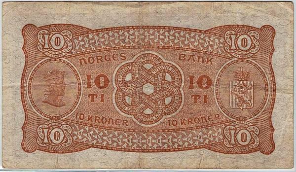 Bilde av 10 kroner 1939 Z
