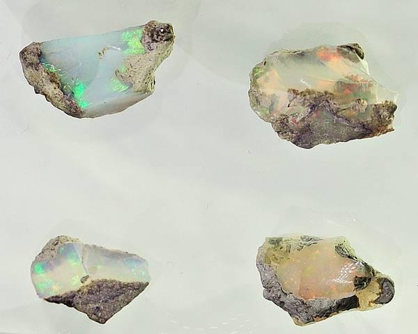 Bilde av 4 råopaler, Welo, Etiopia