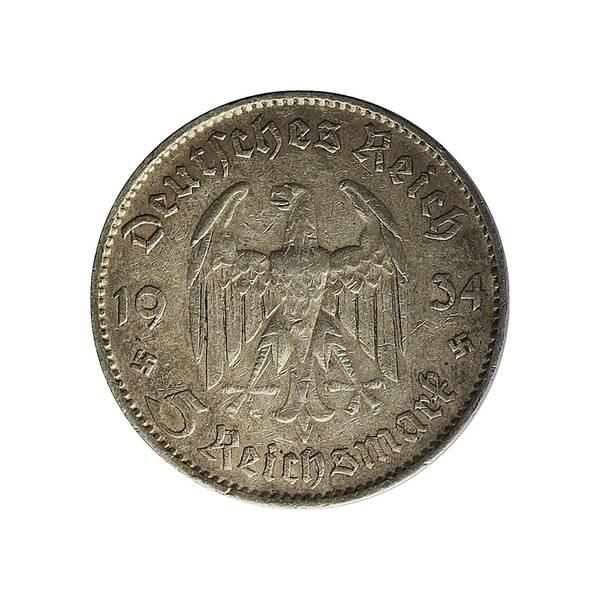 Bilde av Tyskland 5 reichsmark 1934 Garnisonskirken