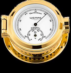 Bilde av Wempe Nautik: Termo-/hygrometer - messing
