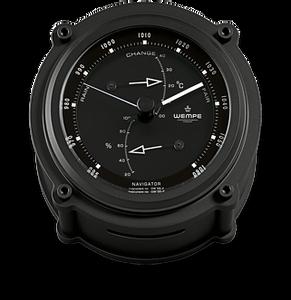 Bilde av Wempe Navigator II: Barometer, termometer og hygro - matt sort