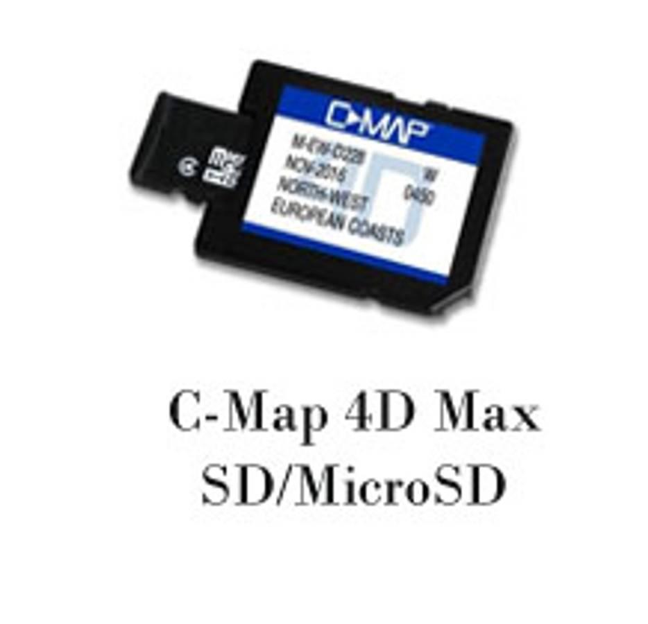 C-Map Max 4D Wide: Norge, Nordsjøen og Danmark