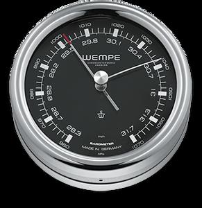 Bilde av Wempe Pilot III: Barometer med sort skive - chrome