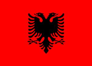 Bilde av Gjesteflagg Albania 30 cm