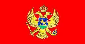 Bilde av Gjesteflagg Montenegro - 30 cm