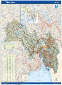 Bilde av Fylkeskart Viken