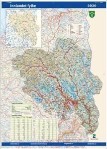 Bilde av Fylkeskart Innlandet