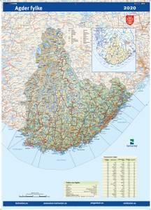 Bilde av Fylkeskart Agder