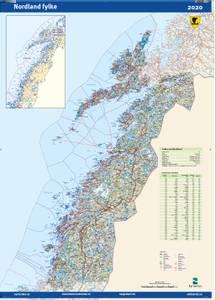 Bilde av Fylkeskart Nordland