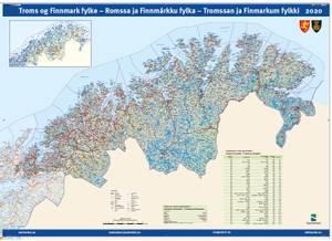 Bilde av Fylkeskart Troms og Finnmark