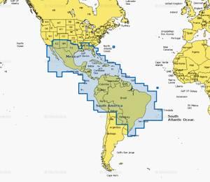 Bilde av Navionics + 4XG: Mexico, Caribbean to Brazil