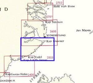 Bilde av Kap Garde - Scoresbysund 1 : 400 000