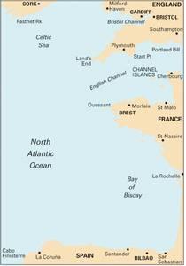 Bilde av C18: Falmouth To Vigo - Biscay Passage Chart