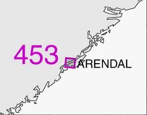 Bilde av 453: Arendal havn med innseilinger