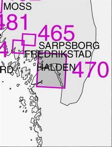 Bilde av 470: Singlefjorden, Iddefjorden med Halden havn
