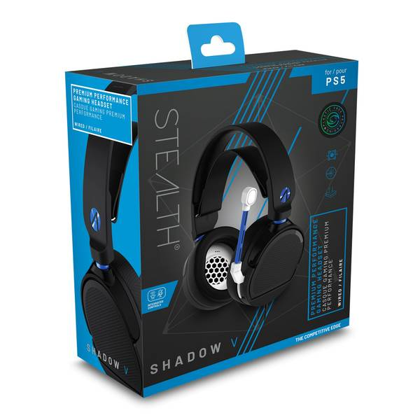 STEALTH SHADOW V Premium Stereo Gaming Headset in Black and Blue