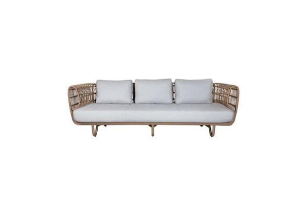 Bilde av Cane-Line Nest 3-seter sofa m/putesett