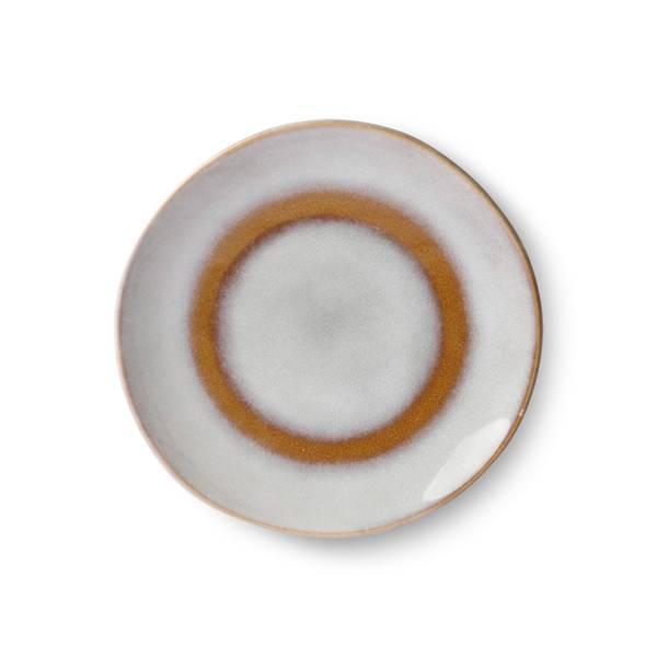 Bilde av HK-Living ceramic 70´s dessert plate, snow