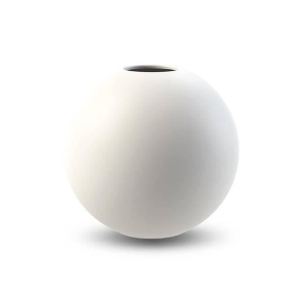 Bilde av Cooee ball vase 20cm, hvit