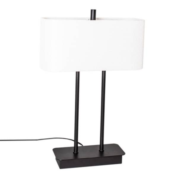 Bilde av By Rydens Luton bordlampe svart/hvit