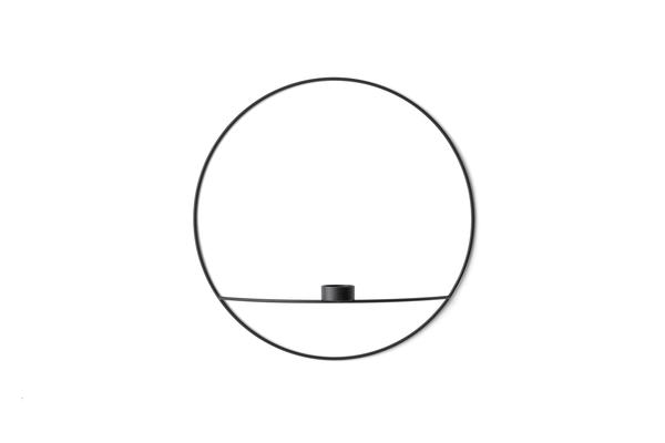 Bilde av Menu POV circle tealight candleholder - L, black