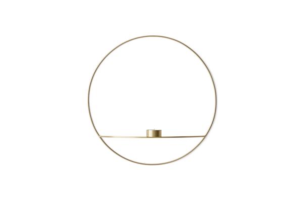 Bilde av Menu POV circle tealight candleholder - L, brass
